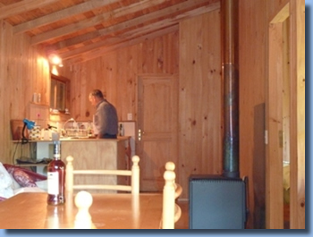 inside view of cabin at Antilco, the horse riding ranch in Chile